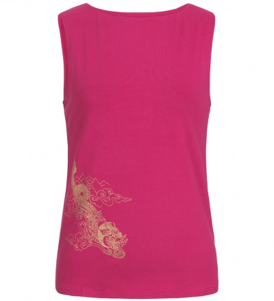Dragon cheeky Tank - Flow freely throug all types of yoga in this cheeky fit organic cotton tank.