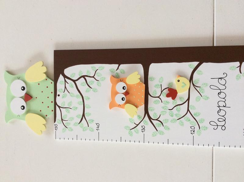 Kinder-Messlatte mit Eulenbaum 2