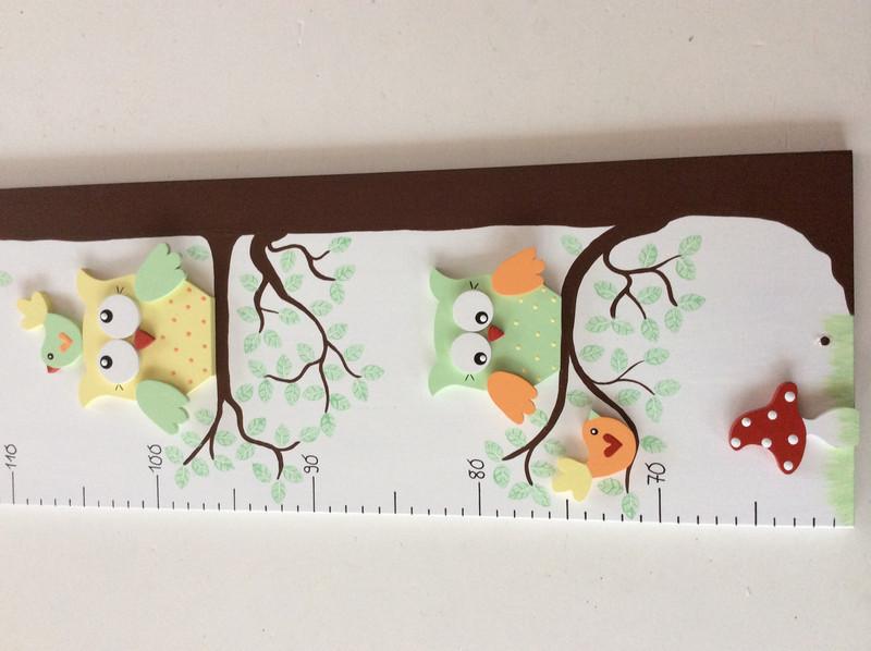 Kinder-Messlatte mit Eulenbaum 3
