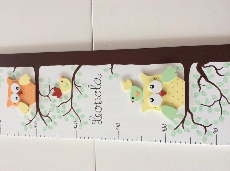 Kinder-Messlatte mit Eulenbaum 4