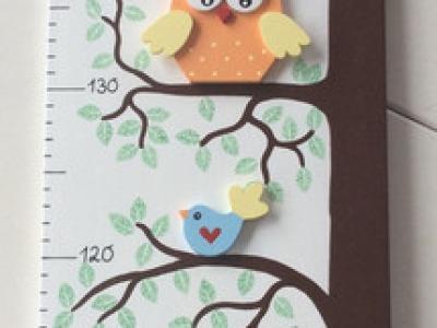 Kinder - Messlatte mit Eulenbaum