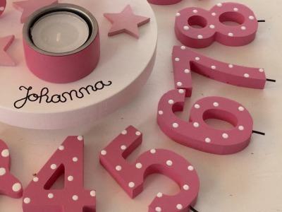 Zahl für Geburtstags-Kerzenhalter
