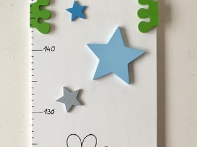 Kinder Messlatte mit Frosch und Sternen
