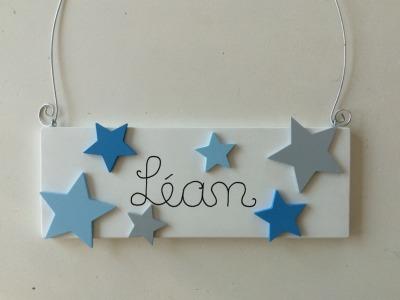 Sterne - Namensschild für Jungs