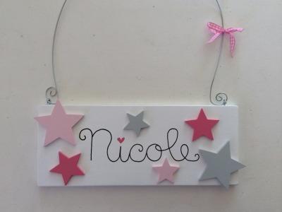 Sterne - Namensschild für Mädchen