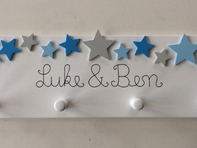 Sternen-Garderobe mit Namen