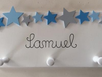Kindergarderobe mit Sternen Mit Haken Breite: