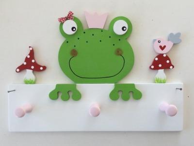 Kindergarderobe mit Frosch Mit Haken Breite: