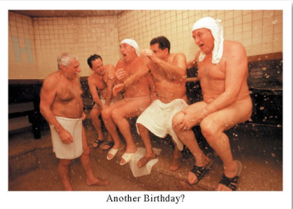 Men in Steam Bath