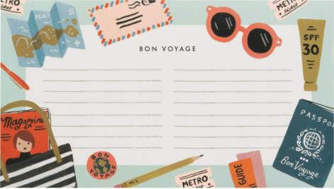 Bon Voyage Notepad