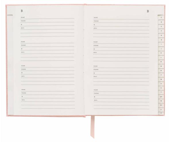 Blush Address Book 3