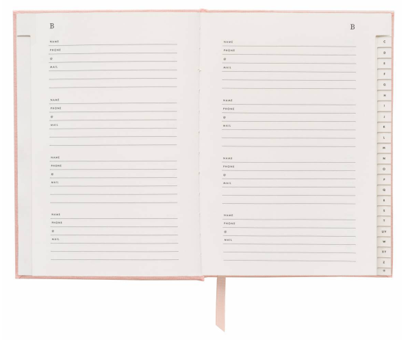 Blush Address Book - 3