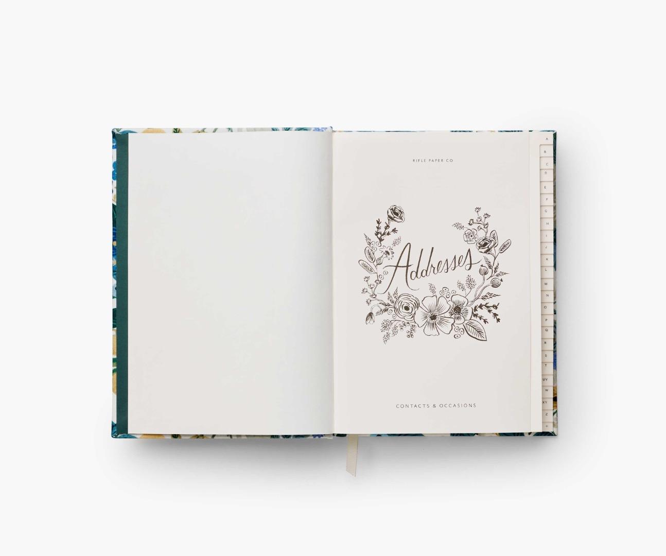 Gerden Party Blue Address Book 2