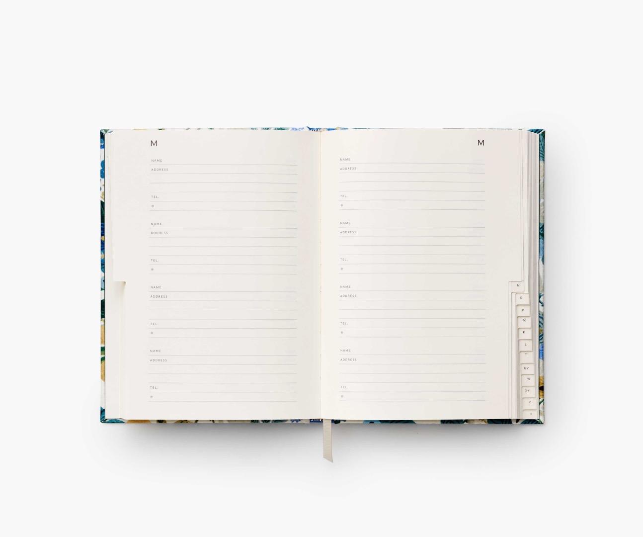 Gerden Party Blue Address Book 3