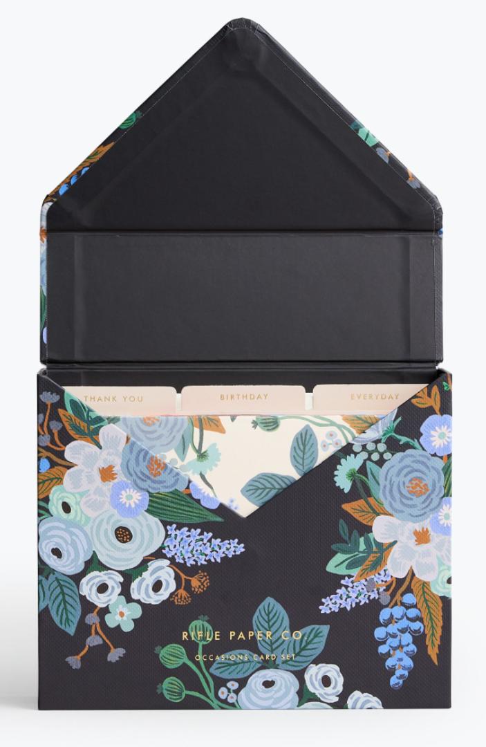 Garden Party Blue Kartenbox 2