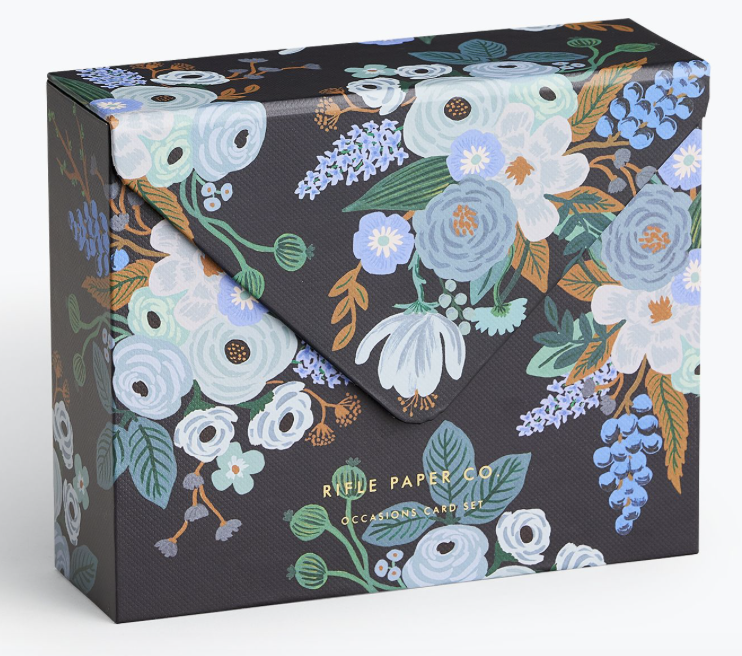 Garden Party Blue Kartenbox 3