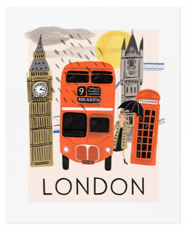 Travel London Art Print