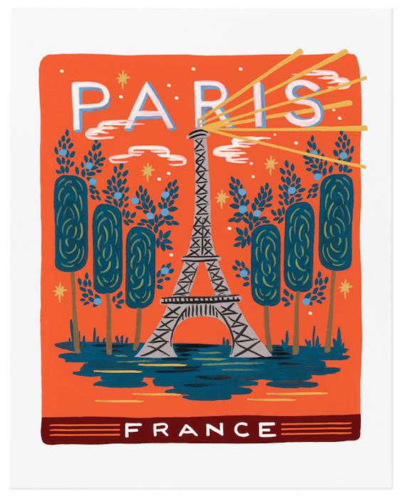 Bon Voyage Paris Art Print