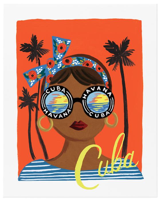 Bon Voyage Cuba Art Print - 1