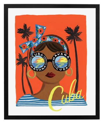 Bon Voyage Cuba Art Print