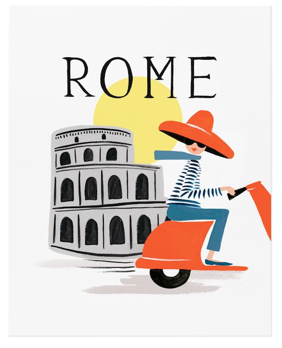 Bon Voyage Rome Art Print