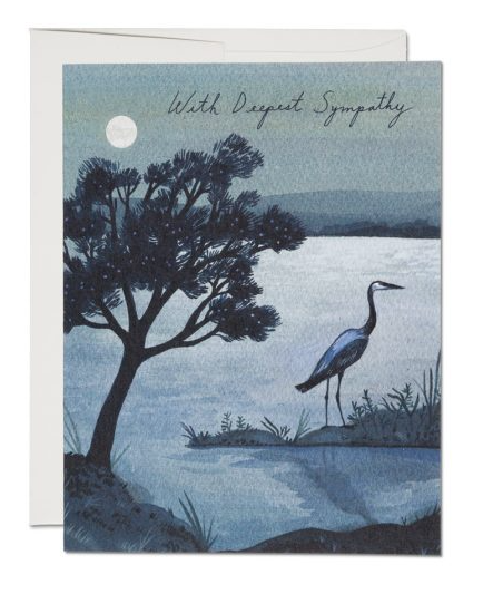 Blue Heron Card - 1