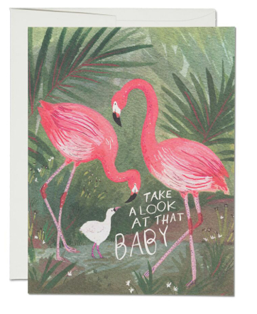 Flamingo Baby Card - 1