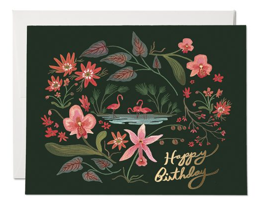 Pink Flamingos Card