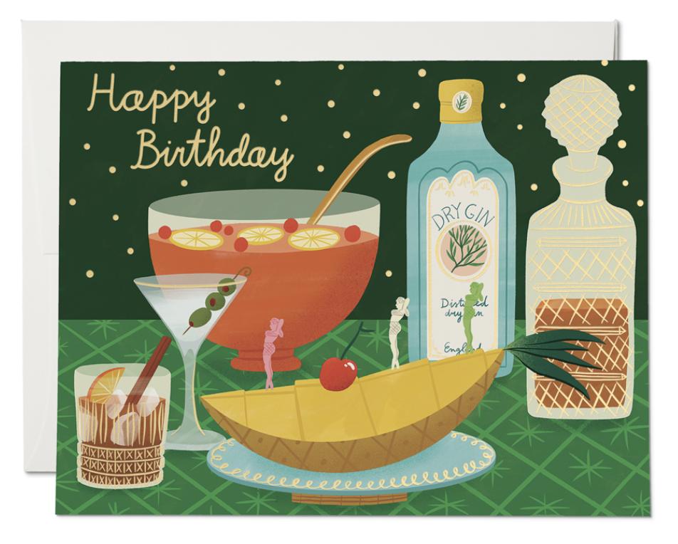 Boozy Birthday Card