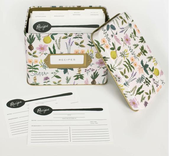 Herb Garden Tin Recipe Box 2