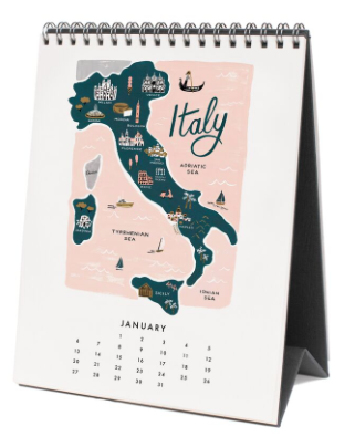2019 Maps of the World Calendar