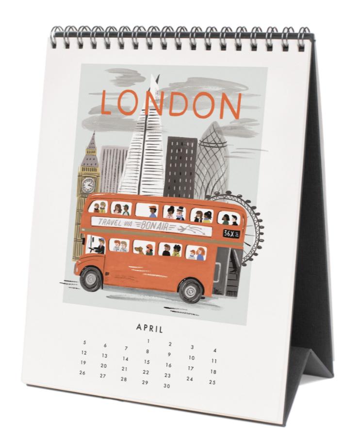 2020 World Traveler Calendar - 5