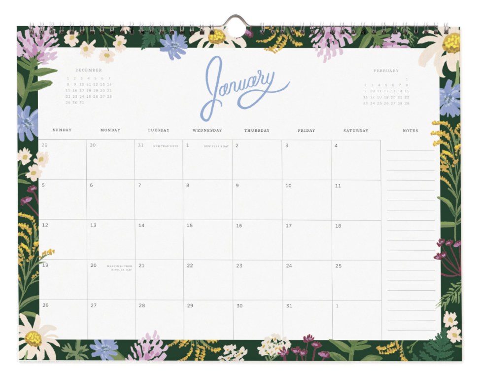 2020 Wild Rose Calendar - 2