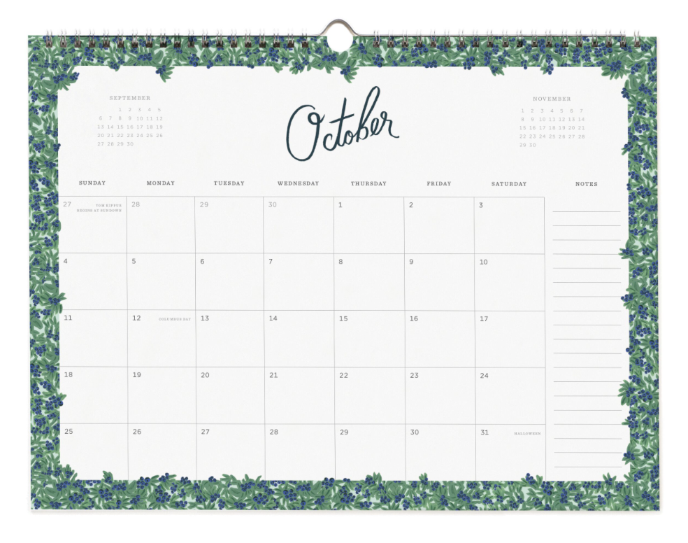 2020 Wild Rose Calendar 11