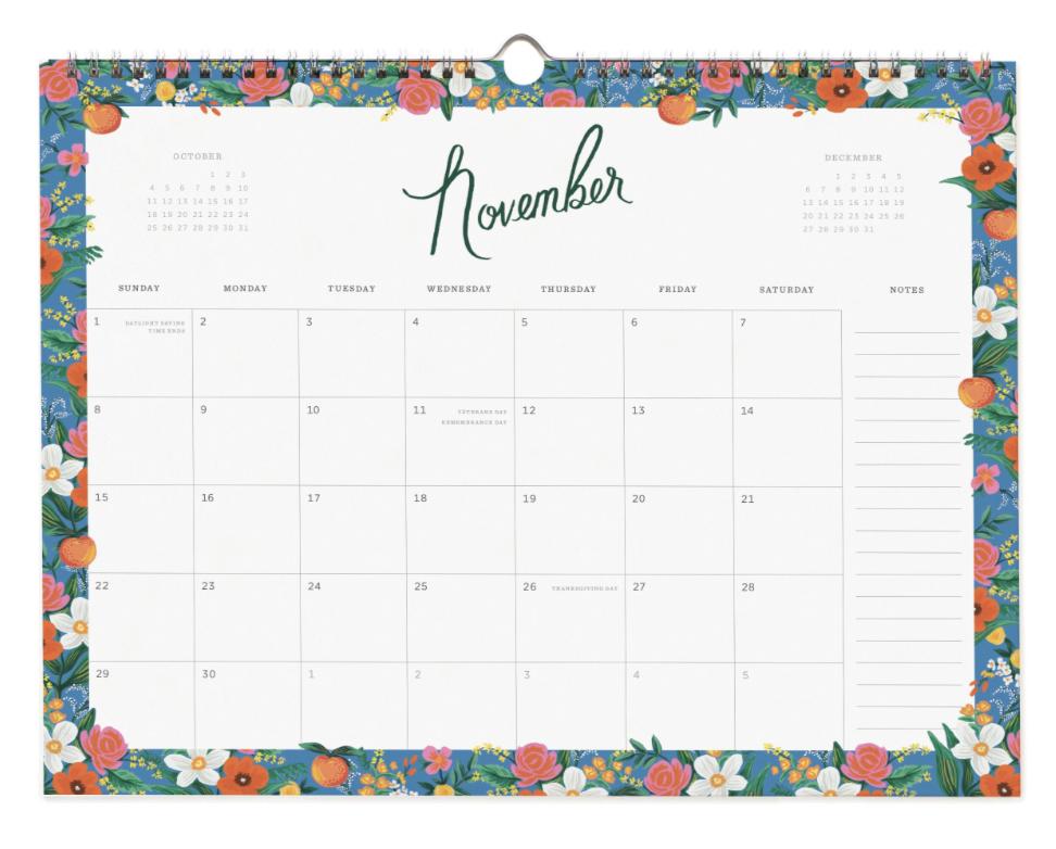 2020 Wild Rose Calendar 12