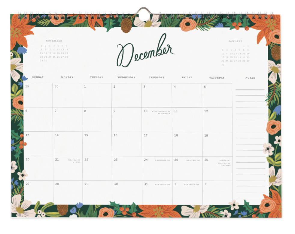 2020 Wild Rose Calendar 13