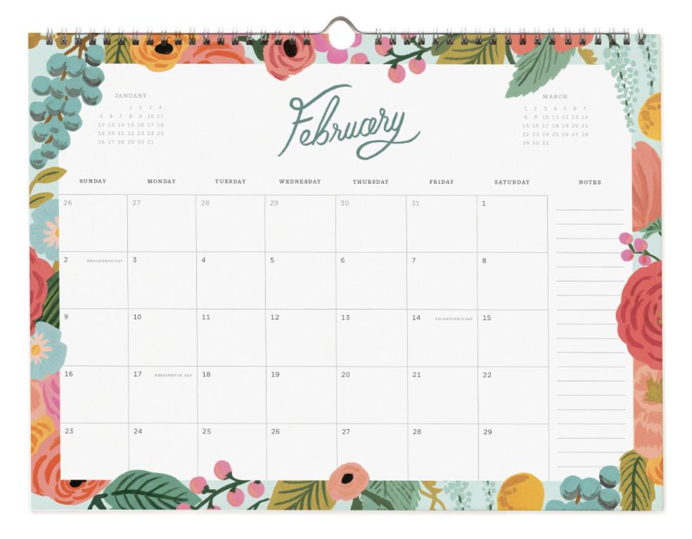 2020 Wild Rose Calendar 3