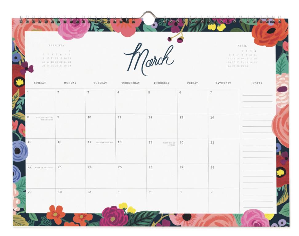 2020 Wild Rose Calendar 4