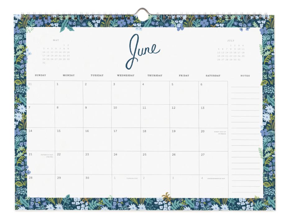 2020 Wild Rose Calendar 7