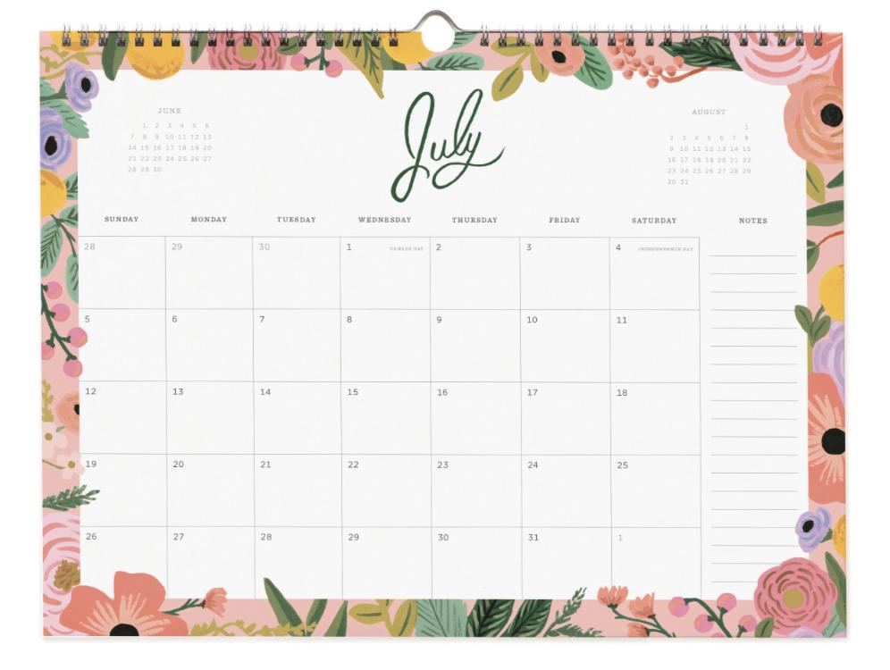 2020 Wild Rose Calendar 8