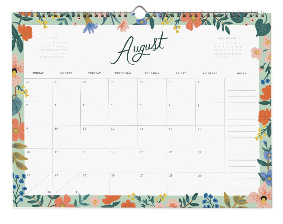 2020 Wild Rose Calendar 9