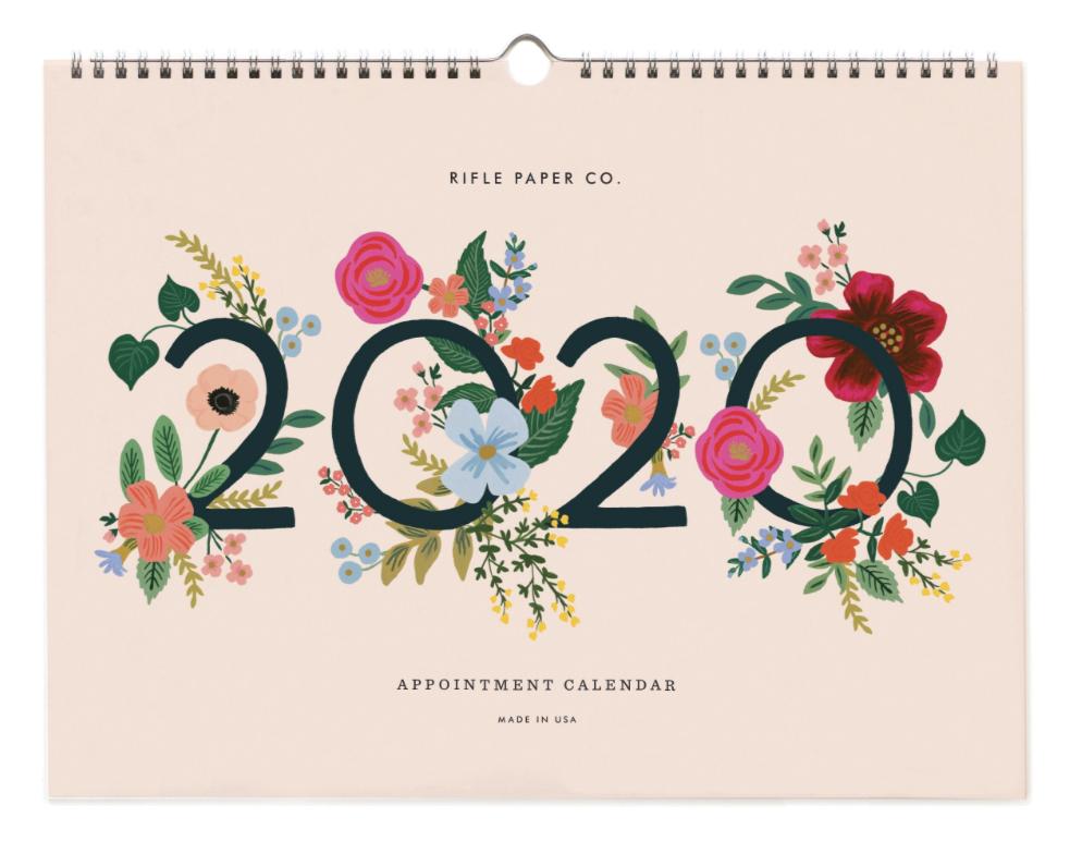2020 Wild Rose Calendar