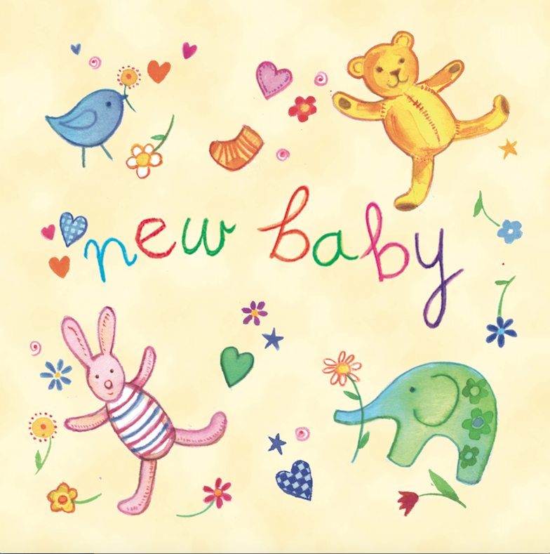 New Baby Toys Card
