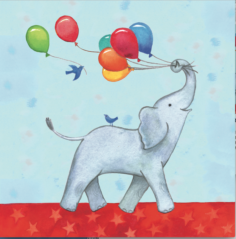Birthday Parade Elephant Card - 1