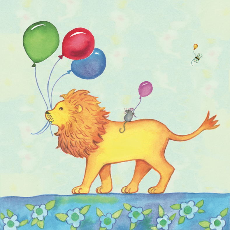 Birthday Parade Lion Card - 1