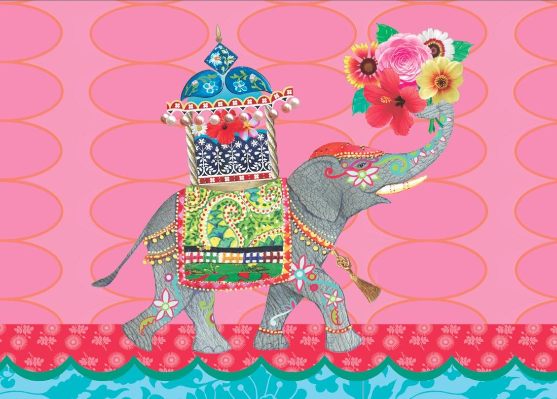 Circus Elephant Postkarte