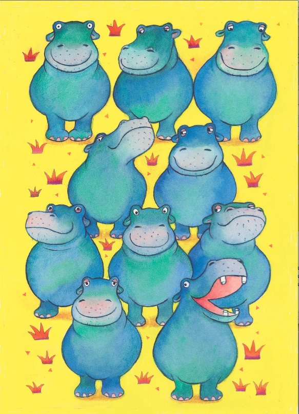 Hippo Beat Postkarte - 1