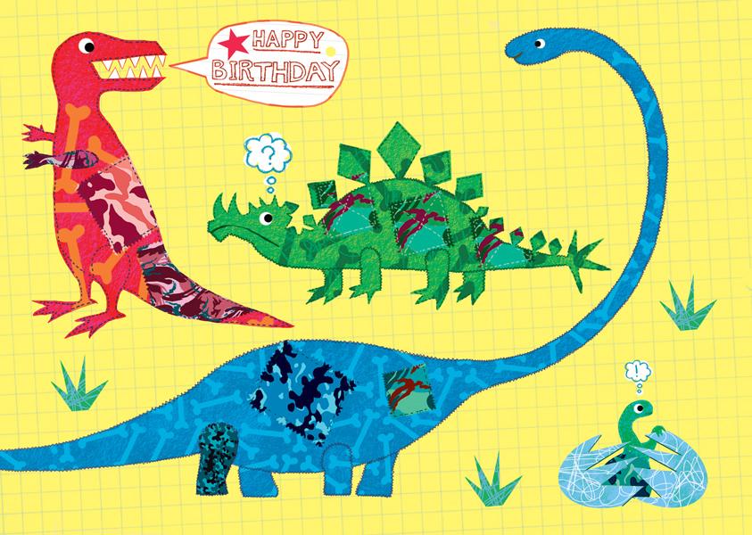 Dino Birthday Postkarte - 1