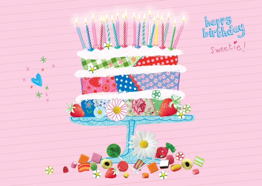 Birthday Cake Postkarte
