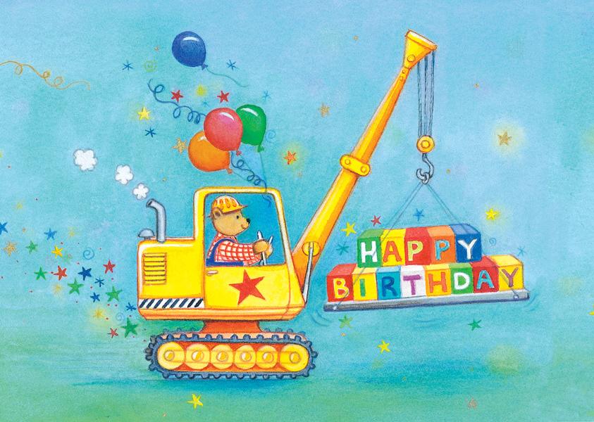 Birthday Bagger Postkarte